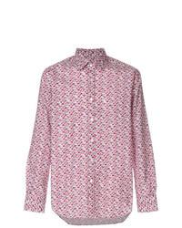 Camisa de manga larga con print de flores violeta claro de Canali