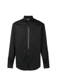 Camisa de manga larga con tachuelas negra de Just Cavalli