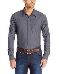 Camisa de manga larga de cambray azul marino de Cinch