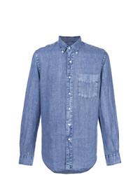 Camisa de manga larga de cambray azul de Aspesi