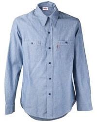Camisa de manga larga de cambray azul de Levi's