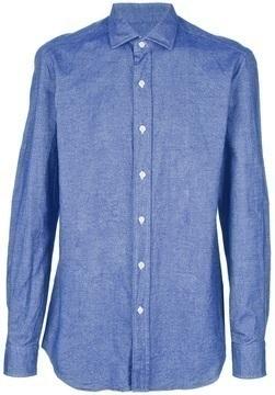 Camisa de manga larga de cambray azul de Salvatore Piccolo