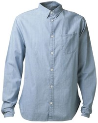 Camisa de manga larga de cambray celeste de Levi's