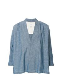 Camisa de manga larga de cambray celeste de VISVIM