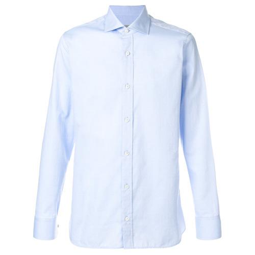 e5b8c823c ... Camisa de manga larga de cambray celeste de Z Zegna ...