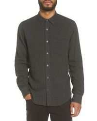 Camisa de manga larga de cambray negra