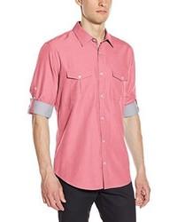 Camisa de manga larga de cambray rosada de Calvin Klein