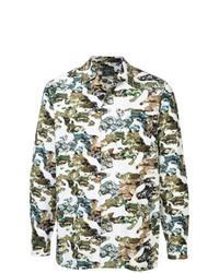 Camisa de manga larga de camuflaje verde oliva de Loveless