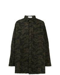 Camisa de manga larga de camuflaje verde oscuro de Faith Connexion
