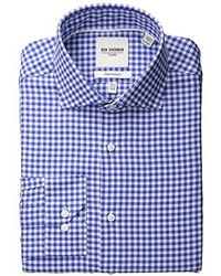 Camisa de manga larga de cuadro vichy azul de Ben Sherman