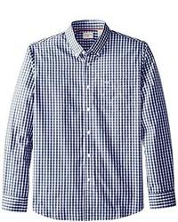 Camisa de Manga Larga de Cuadro Vichy Azul de Dockers