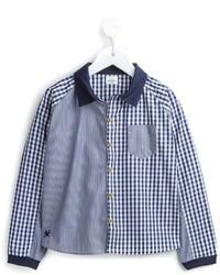 Camisa de manga larga de cuadro vichy azul de No Added Sugar