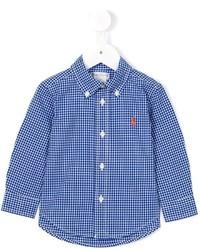Camisa de manga larga de cuadro vichy azul de Ralph Lauren