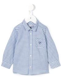 Camisa de manga larga de cuadro vichy azul de Tartine et Chocolat