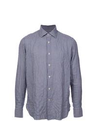 Camisa de manga larga de cuadro vichy azul de The Gigi