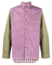 Camisa de manga larga de cuadro vichy en multicolor de Junya Watanabe MAN