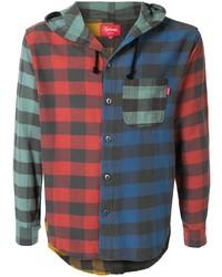 Camisa de manga larga de cuadro vichy en multicolor de Supreme