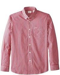 Camisa de Manga Larga de Cuadro Vichy en Rojo y Blanco de Dockers