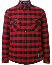 Camisa de manga larga de cuadro vichy en rojo y negro de GUILD PRIME