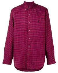 Camisa de manga larga de cuadro vichy morado de Polo Ralph Lauren