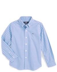 Camisa de manga larga de cuadro vichy