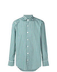 Camisa de Manga Larga de Cuadro Vichy Verde de Finamore 1925 Napoli