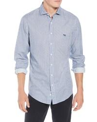 Camisa de manga larga de franela a cuadros violeta claro