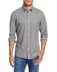 Camisa de manga larga de franela gris