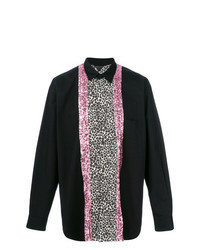 Camisa de manga larga de leopardo negra