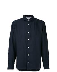 Camisa de manga larga de lino azul marino de Eleventy