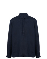 Camisa de manga larga de lino azul marino de Orlebar Brown