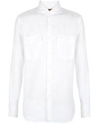 Camisa de manga larga de lino blanca de Fay
