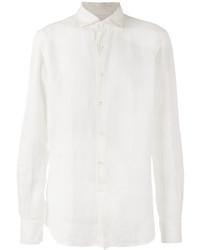 Camisa de manga larga de lino blanca de Glanshirt