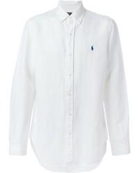 Camisa de manga larga de lino blanca de Polo Ralph Lauren