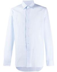 Camisa de manga larga de lino celeste de Canali