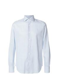 Camisa de Manga Larga de Lino Celeste de Glanshirt
