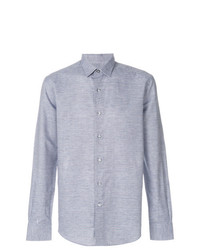 Camisa de Manga Larga de Lino Celeste de Lanvin