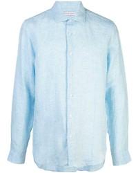 Camisa de manga larga de lino celeste de Orlebar Brown