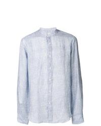 Camisa de Manga Larga de Lino Celeste de Xacus