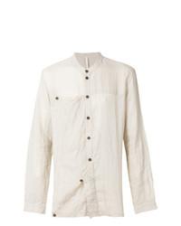 Camisa de manga larga de lino en beige de Barbara I Gongini