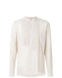 Camisa de manga larga de lino en beige de Dnl
