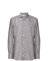 Camisa de manga larga de lino en beige de Eleventy