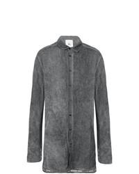 Camisa de manga larga de lino en gris oscuro de Lost & Found Rooms