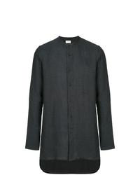 Camisa de manga larga de lino en gris oscuro de Sartorial Monk