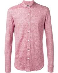 Camisa de manga larga de lino roja
