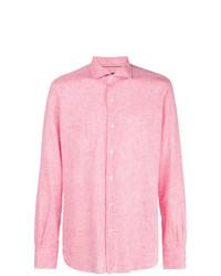 Camisa de manga larga de lino rosada de Orian