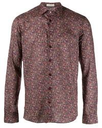 Camisa de manga larga de paisley burdeos de Etro