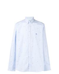 Camisa de Manga Larga de Paisley Celeste de Etro