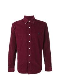 Camisa de manga larga de pana morado oscuro de Polo Ralph Lauren