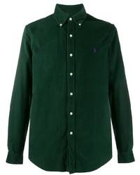 Camisa de manga larga de pana verde oscuro de Ralph Lauren